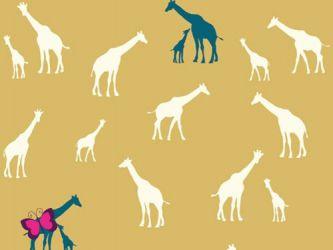 Giraffen Baumwolle Serengeti Birch