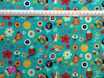 Birds of feather Baumwolle Blumen