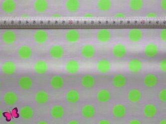 Cotton Dots Punkte neon grün Baumwolle Riley Blake