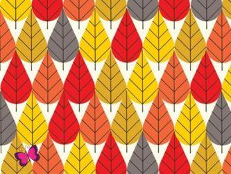 Blätter Baumwolle Charly Harper Birch