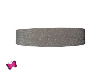 Gummiband Glitzer 5 cm breit