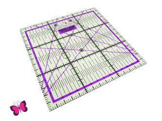 Patchworklineal 15 x 15 cm verschiedenen Farben
