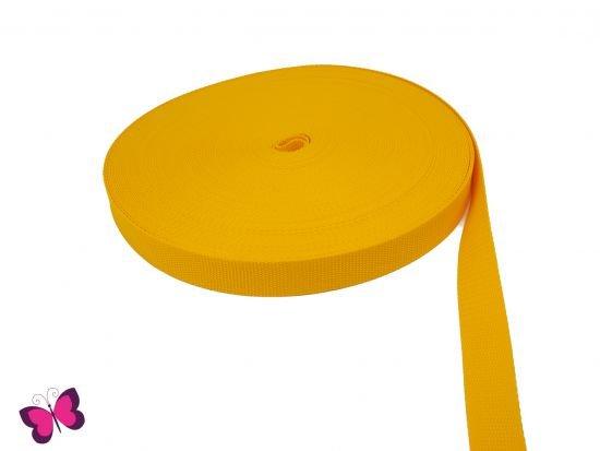 Gurtband - 2,5 cm breit gelb