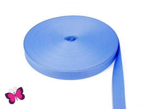 Gurtband - 2,5 cm breit hellblau