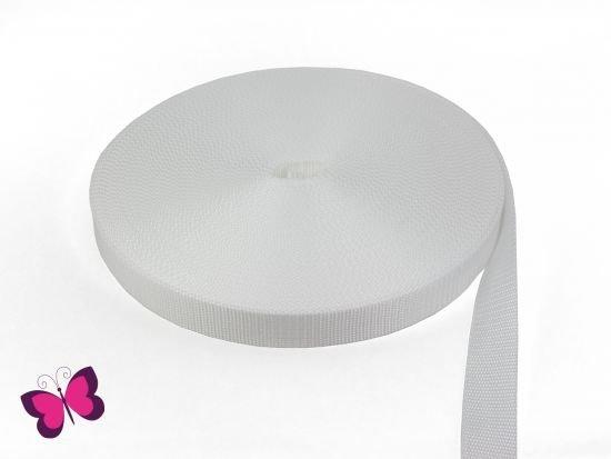 Gurtband - 3 cm breit weiß
