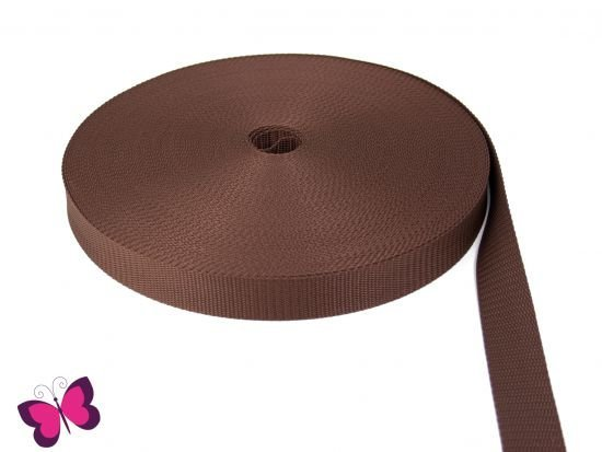 Gurtband - 3 cm breit braun
