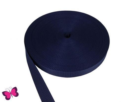 Gurtband - 2,5 cm breit dunkelblau