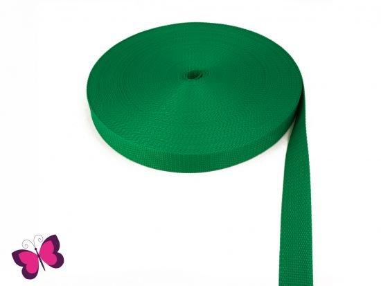 Gurtband - 2,5 cm breit grün