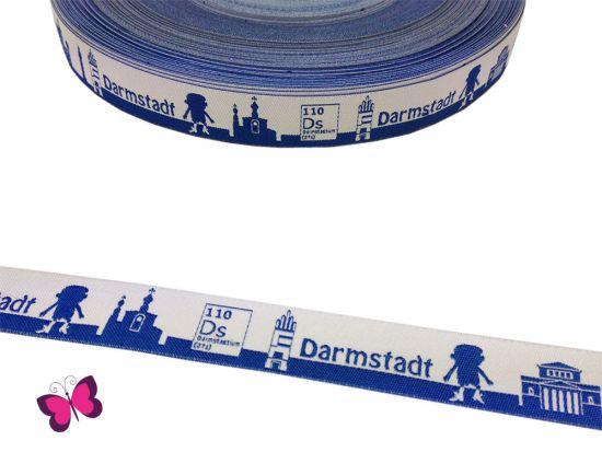 Meine Heimat - DARMSTADT Skyline Webband blau