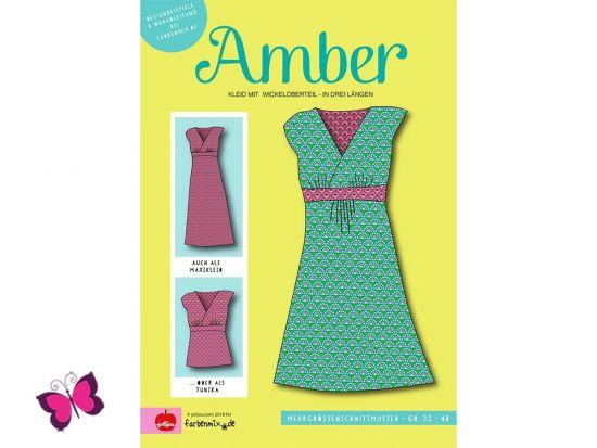 Amber Kleid mit Wickeloberteil Schnittmuster Jolijou