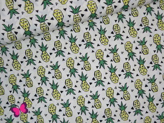 Ananas Baumwolle Sevenberry weiß
