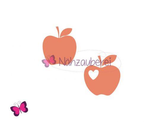 Apfel mit Herz Plotterdatei