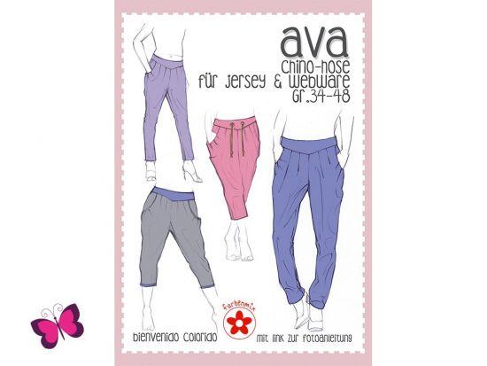 Chino Hosen Schnittmuster Ava für Damen von Farbenmix