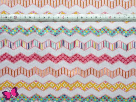 Baumwolle Chevron Happi Dena Designs pink