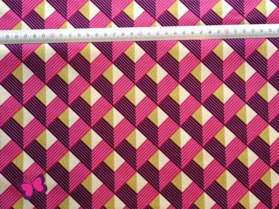Baumwolle Chevron Joel Dewberry Lavender lila pink