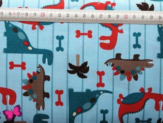 Baumwolle Dino World in hellblau Riley Blake