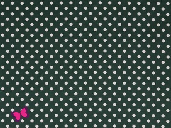 Baumwolle Punkte Dots Weiss Swafing dunkelgrün