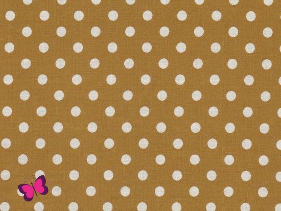 Baumwolle Punkte Dots Weiss Swafing beige