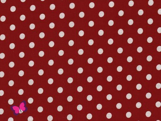 Baumwolle Punkte Dots Weiss Swafing burgundy