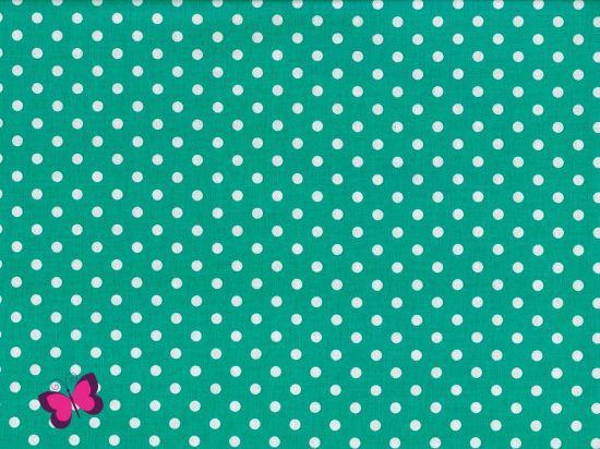 Baumwolle Punkte Dots Weiss Swafing dunkelmint