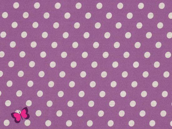 Baumwolle Punkte Dots Weiss lila
