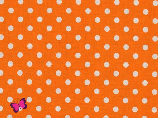 Baumwolle Punkte Dots Weiss Swafing orange