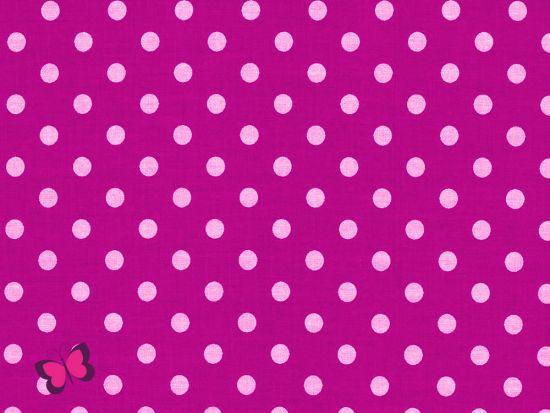 Baumwolle Punkte Dots Weiss pink