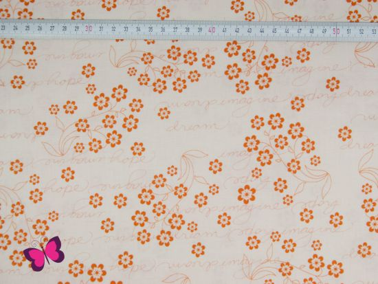 Baumwolle Flutter Dream Hope orange Riley Blake