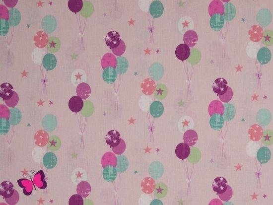 Luftballons und Sterne Baumwolle Lars