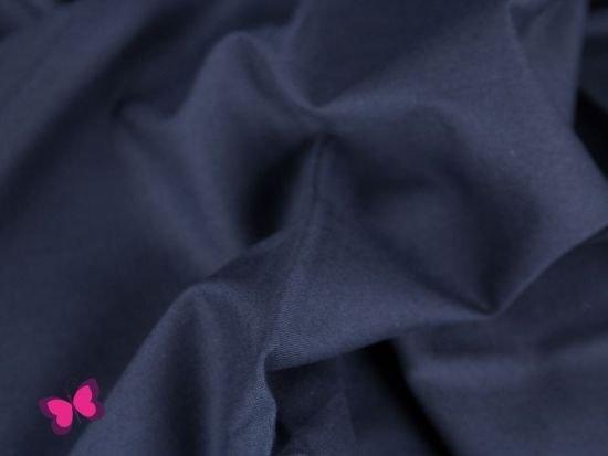 Reststück Baumwollstoff Webware Uni Dunkelblau