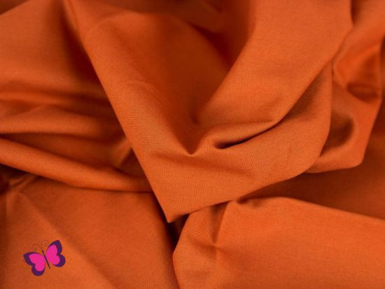 Baumwolle in Unifarben orange