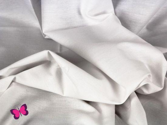 Baumwolle in Unifarben weiß