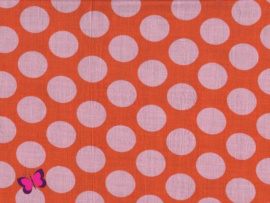 Nancy Punkte Voile orange