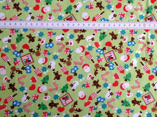0,25 m Baumwolle Weihnachtsmotive Sweets in Grün