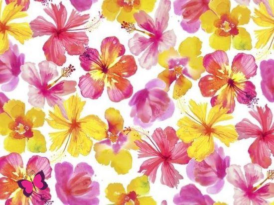 Blüten Webware Tropicale