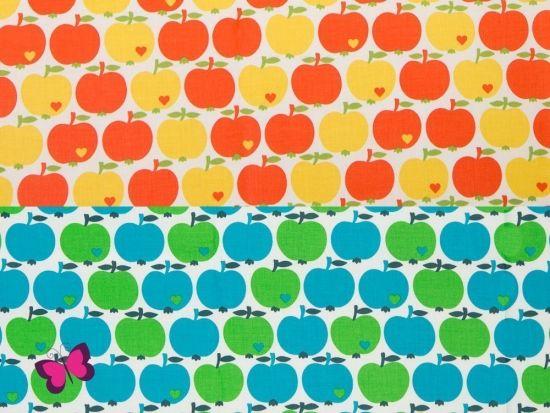 50 x 70 cm Zuschnitt byGraziela Apfel klassik Baumwolle beschichtet