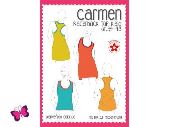 ᐅ Carmen Schnittmuster Racerback Top-Kleid