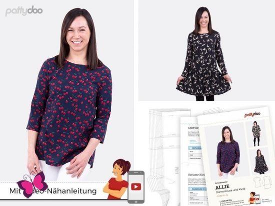 Bluse und Kleid Allie Schnittmuster