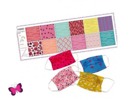 DIY Kit für 6 Masken viereck pink