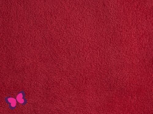 Antipilling-Fleece Uni rot