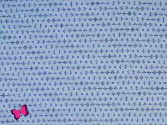 Sternchen Webware Franziska hellblau