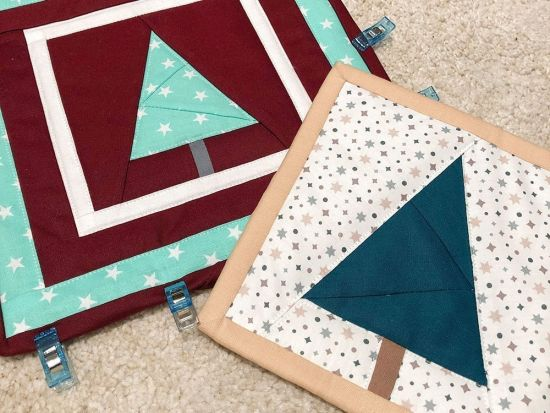 Freebie Foundation Paper Piecing Weihnachtsbaum
