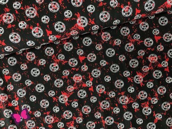 Fußball Jersey rot schwarz