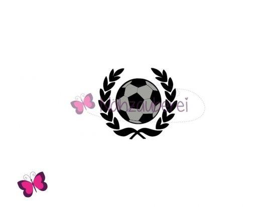 Fußball mit Siegerkranz Plotterdatei