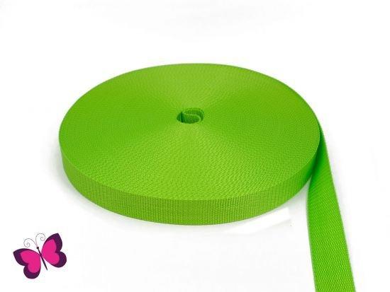 Gurtband - 2,5 cm breit limone / hellgrün