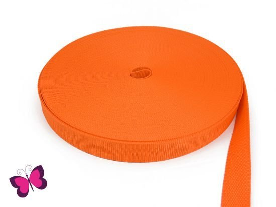 Gurtband - 3 cm breit orange