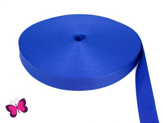 Gurtband - 2,5 cm breit königsblau