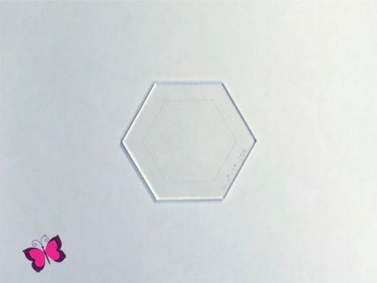 Acrylschablone Hexagon Sechseck