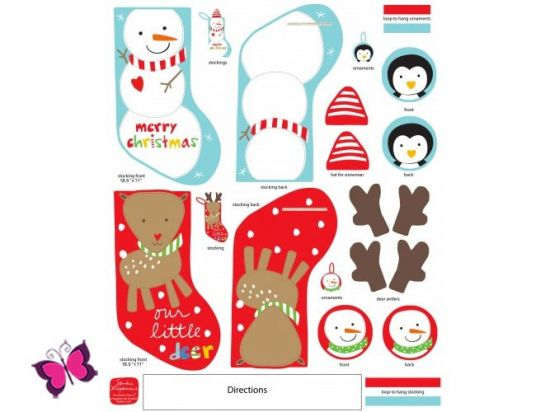 Holiday Stockings Nikolausstiefel Panel Webware