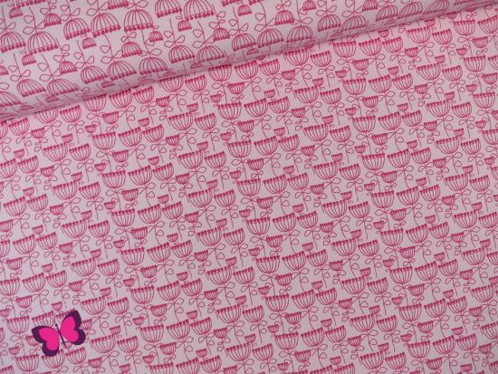 Blumen Jersey in Pink Rosa
